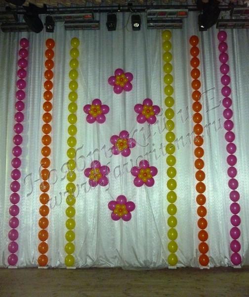 Воздушные шары оформление свадеб