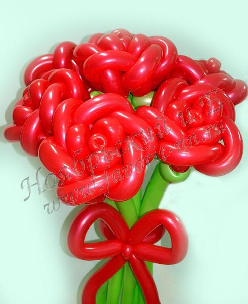 Розы из шаров своими руками мастер класс видео