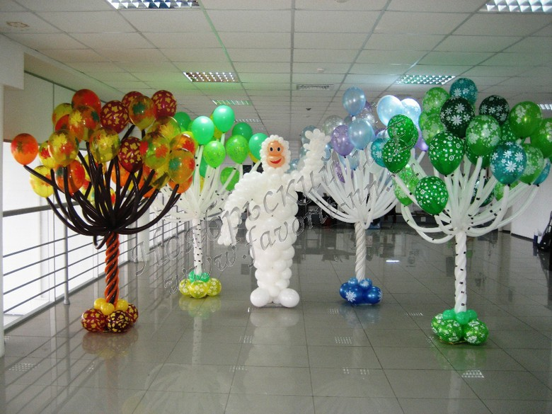 Оформления шарами как сделать