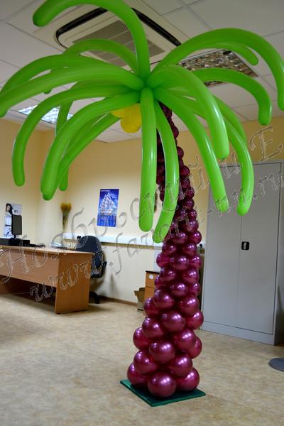Пальма своими руками из шаров 197