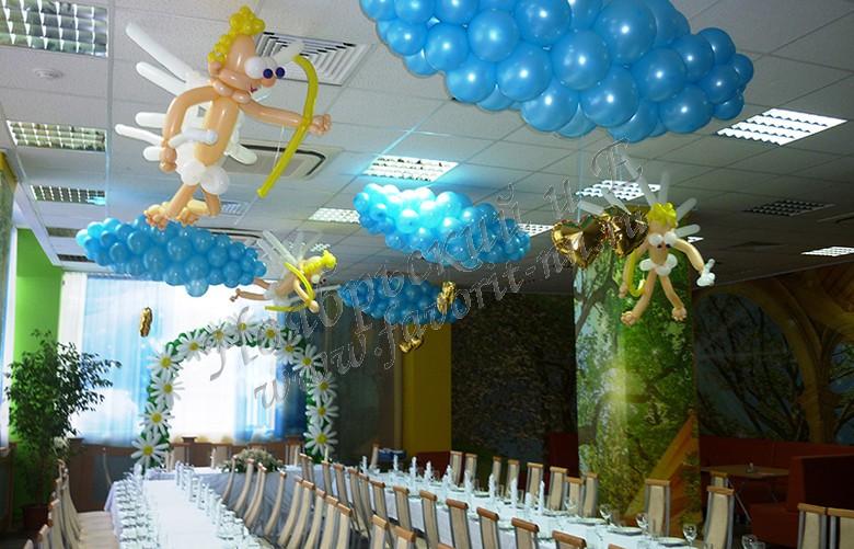 Свадебное оформление зала воздушными