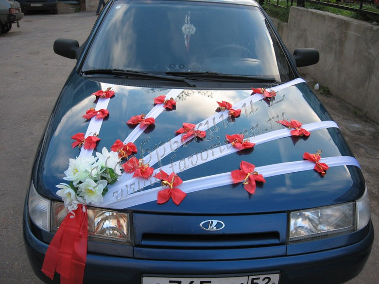 Украсить машину на свадьбу своими руками фото